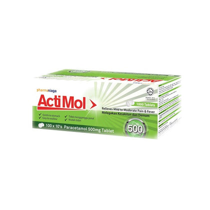 PHARMANIAGA ACTIMOL 500MG 10'SX100
