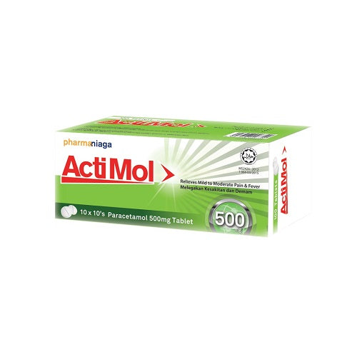 PHARMANIAGA ACTIMOL 500MG 10'SX10