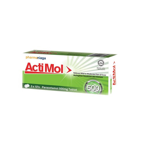 PHARMANIAGA ACTIMOL 500MG 10'SX3