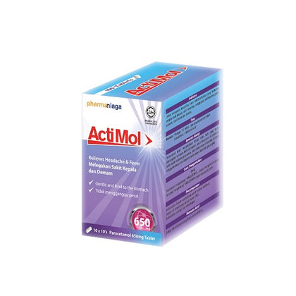 PHARMANIAGA ACTIMOL 650MG 10'SX10