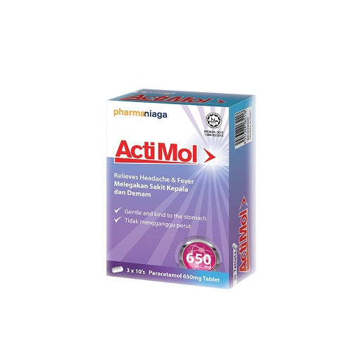 PHARMANIAGA ACTIMOL 650MG 10'SX3