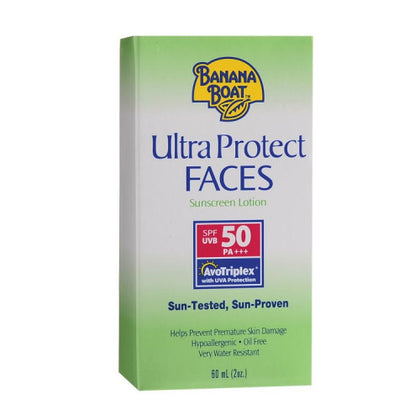 BANANA BOAT ULTRA PROTECT FACES SUNSCREEN LOTION SPF50 60ML