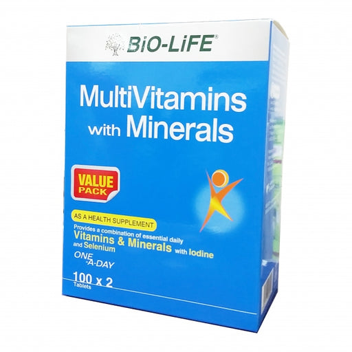 BIO-LIFE MULTIVITAMINS AND MINERALS 100'S X 2 (VALUE PACK)