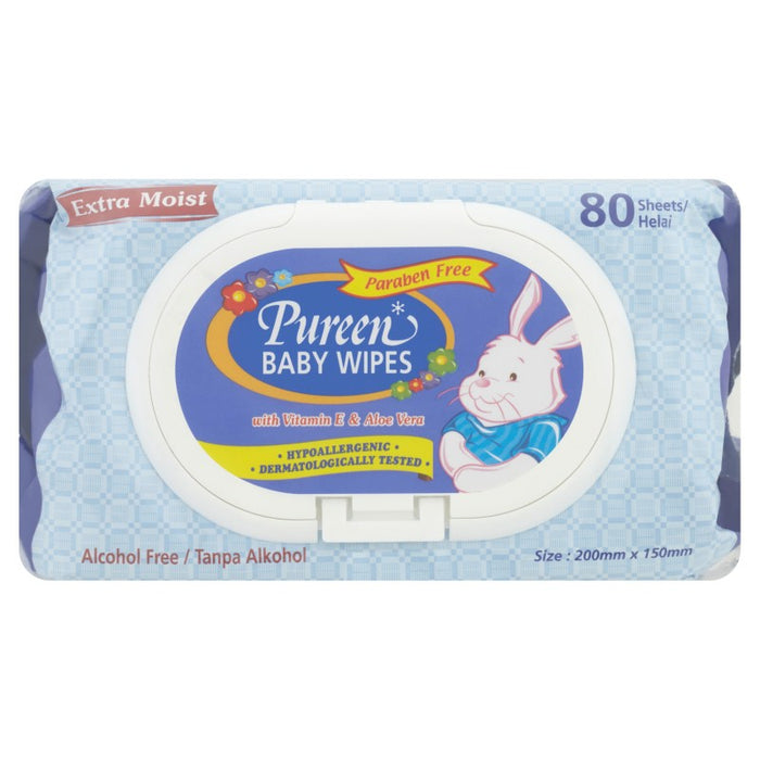 PUREEN BABY WIPES BLUE  80'SX2