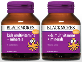 BLACKMORES KIDS MULTIVITAMINS & MINERALS 60'SX2