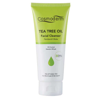 COSMODERM TEA TREE OIL FACIAL CLEANSER WITH VITAMIN E 125ML