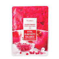 DEOPROCE COLOR SYNERGY EFFECT SHEET MASK RED 20G