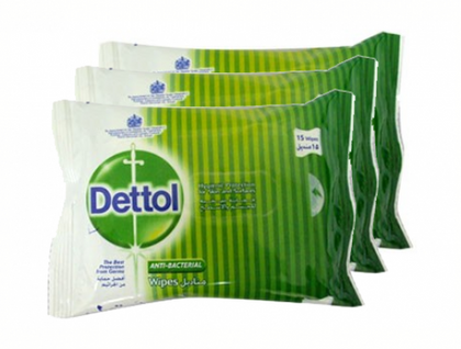DETTOL ANTI-BACTERIAL WIPES 10'SX3