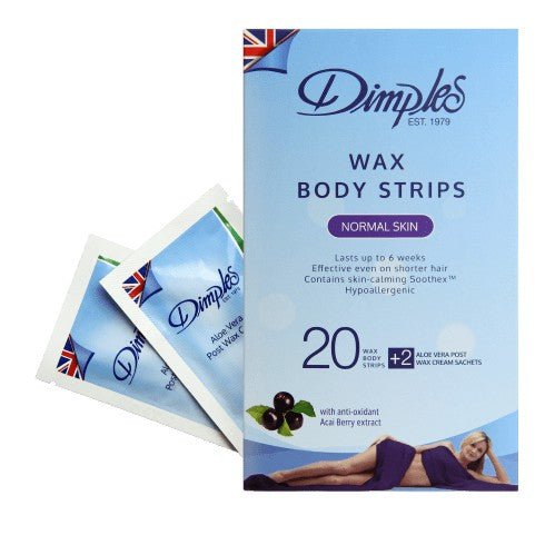 DIMPLES WAX BODY STRIPS-NORMAL SKIN 10'S BOX