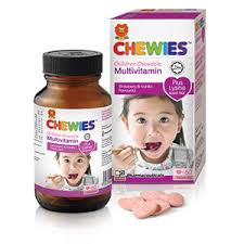 CHEWIES MULTIVITAMIN WITH LYSINE STRAWBERRY 60'S