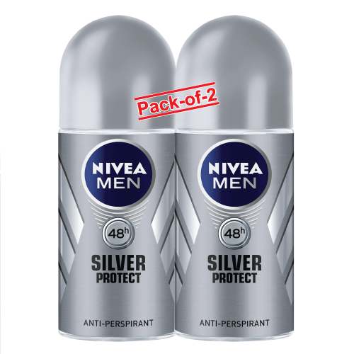 NIVEA DEO (M) ROLL ON SILVER PROTECT 50MLX2