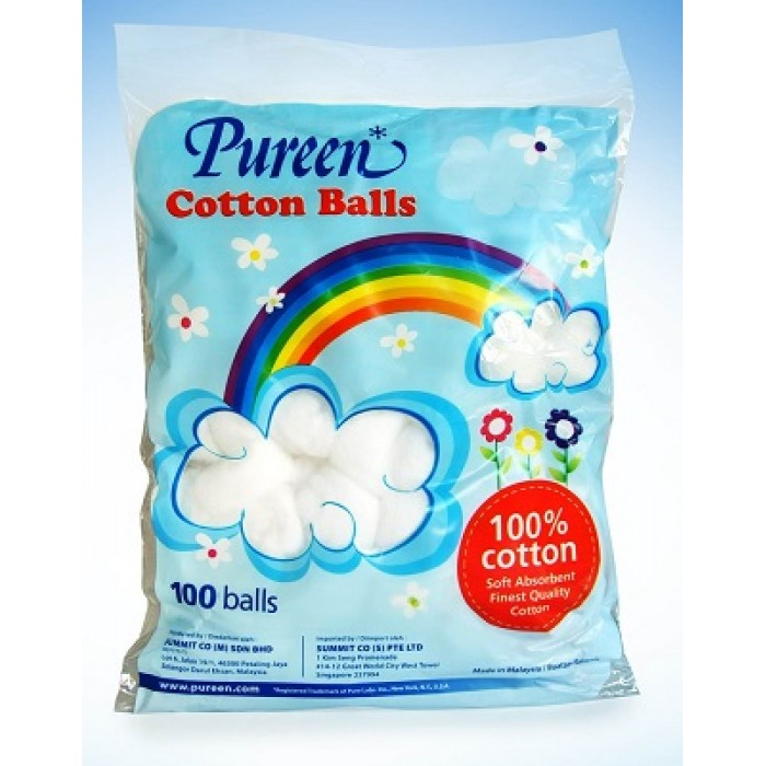 PUREEN COTTON BALLS 100'SX2