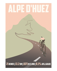 Alpe D'Huez Cycling Art Print