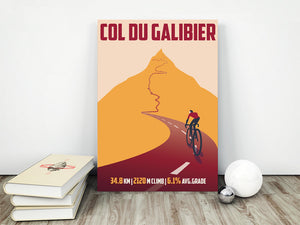 Col Du Galibier Cycling Art Print