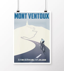 Mont Ventoux Cycling Art Print