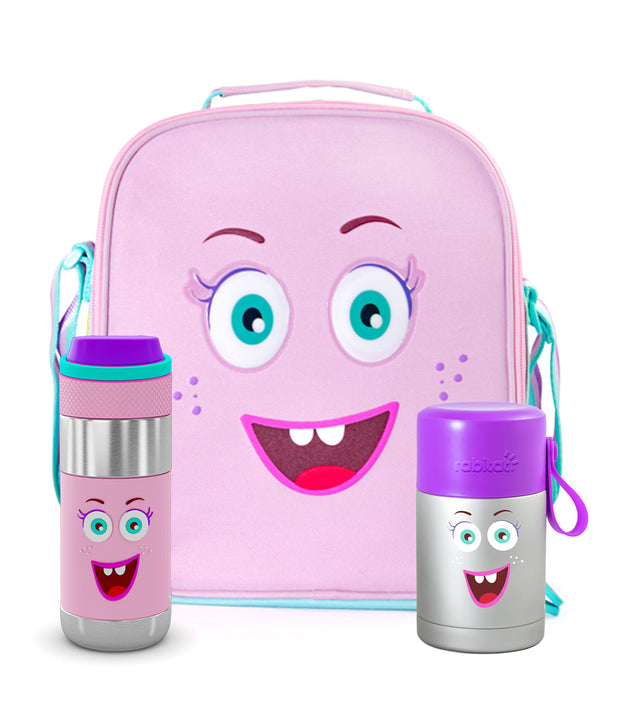 Picnic Backpack Kit (1 Insulated Outpack Lunch Bag + Meal Mate Insulated Food Jar + 1 Clean Lock Insulated Stainless Steel Bottle)