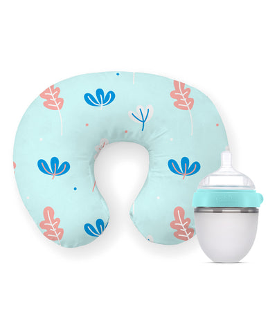 Combo Pack (Breezy Nursing Pillow + Squeezy Silicone Feeding Bottle)