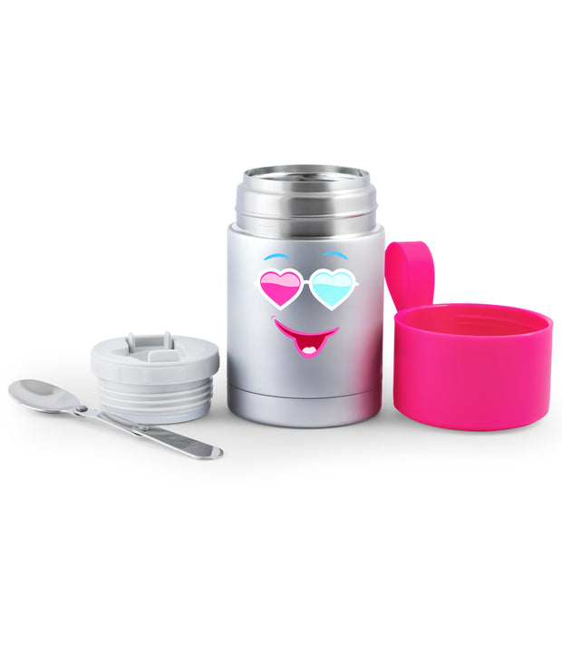 Meal Mate Insulated Food Jar with Foldable Stainless Steel Spoon