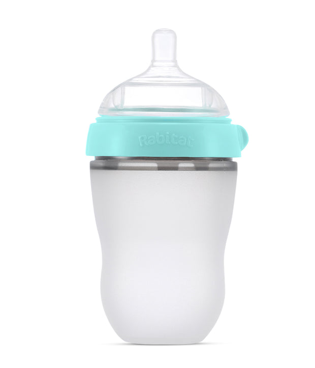 Combo Pack (250 ML Squeezy Silicone Feeding Bottle + Silicone Replacement Nipple)