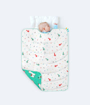 All Weather Quilt + Organic Cotton Flat Crib Sheet Combo