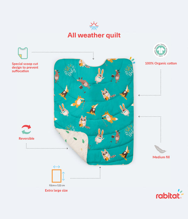 Homed 100% Organic Cotton All Weather Quilt