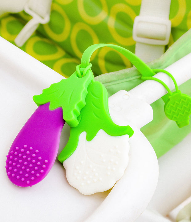Combo Pack (Silicone Veggie Teether + Soft & Flexible Silicone Spoons)