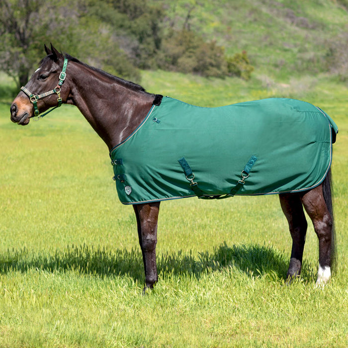 Solid hunter green poly cotton day turnout stable sheet