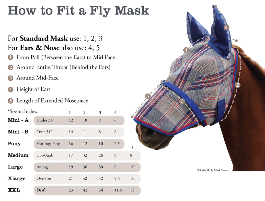 Fly Mask with Ears and Web Trim