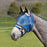 Kensington fly mask with 73% UV protection. Open forelock. Blue plaid