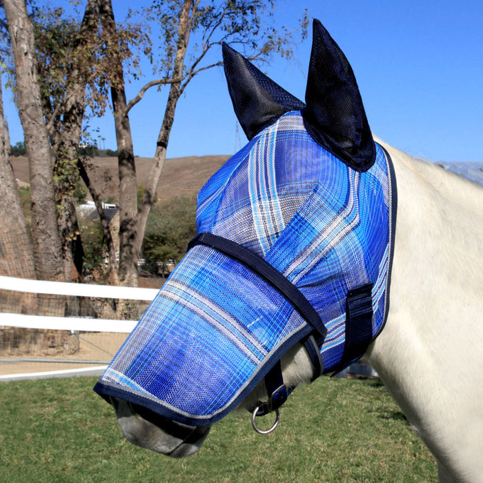 Fly Mask with Ears and Removable Nose