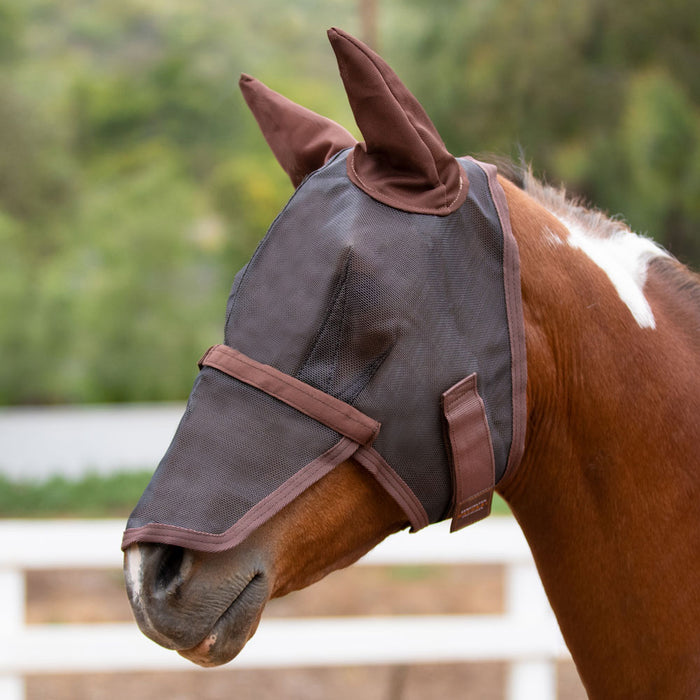 Fly Mask with Ears & Removable Nose