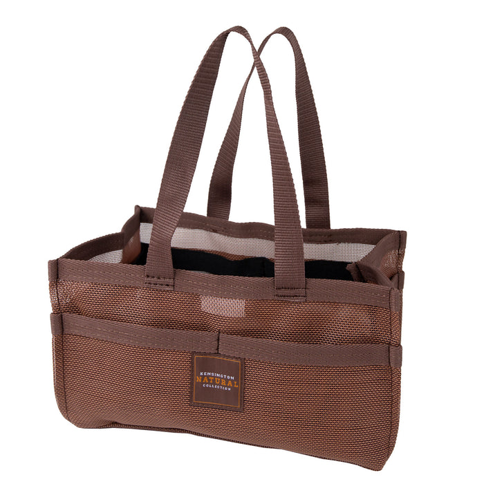 Sorrel color Kensington grooming tote bag with pockets.