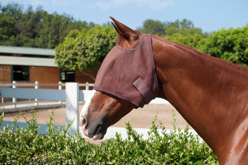 Natural Fly Mask with Webbing
