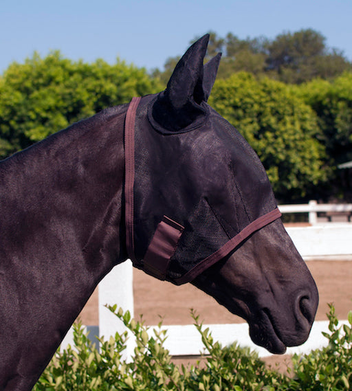 Natural Fly Mask w/ Ears & Web Trim