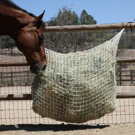 Freedom Feeder Extended Day Net 2 String Bale. Slow fed hay net.