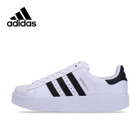 Adidas Original New Arrival Official SUPERSTAR BOLD W Breathable Women's Skateboarding Shoes Sneakers BA7666