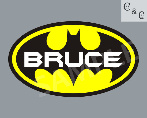 Batman Name Art (Digital  Download)