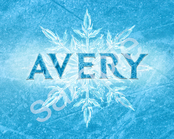 Frozen Name Art (Digital Download)