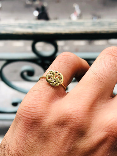 One size fits all gold ring
