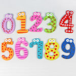 Set of 10 Magnetic Wooden Numbers - Educational Toy