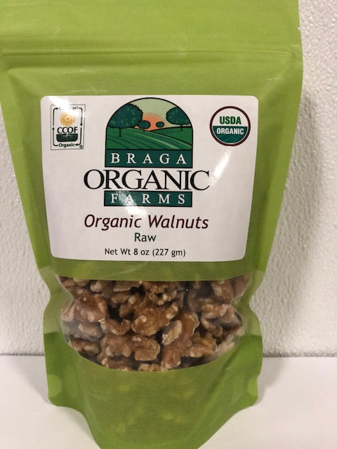 12- 8 oz bags of Organic Walnuts