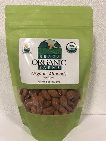 12- 8 oz bags of Organic Non-Pareil Almonds