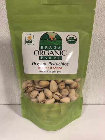 12- 8 oz bags of Organic Inshell Pistachios