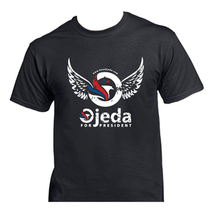 Ojeda for President 2020 - Black - Union Made in America, 100% Cotton, and Printed in WV