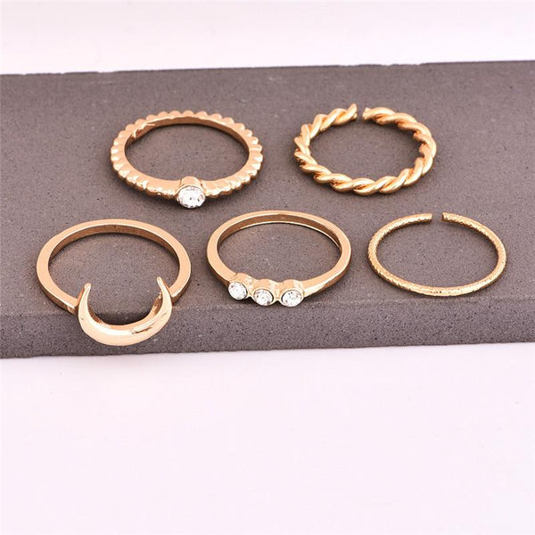 Lunar Ring Set