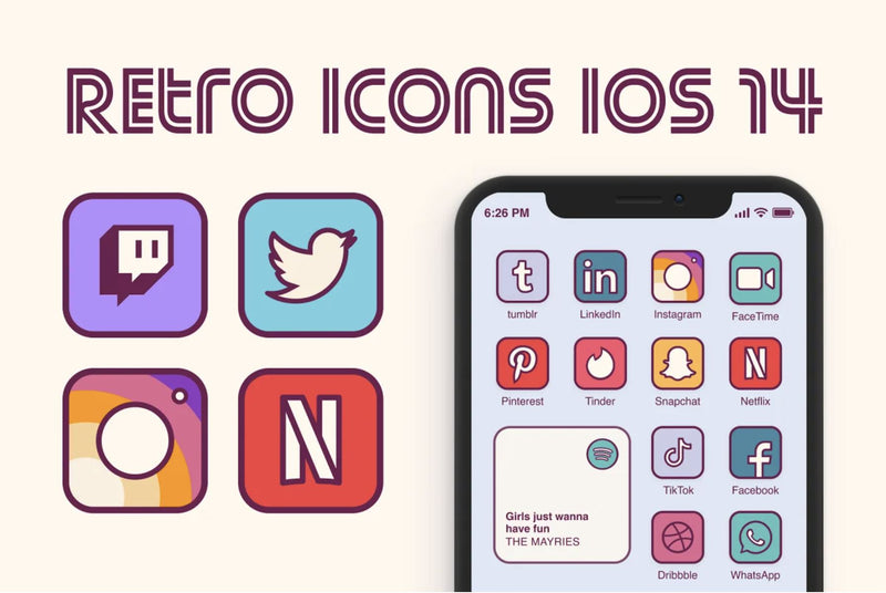 Retro IOS Icons