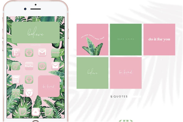Pink Jungle IOS Icons
