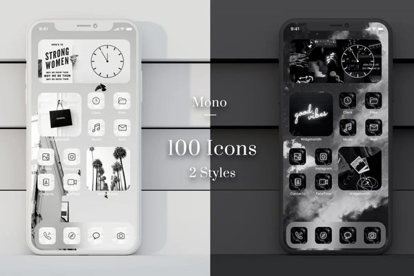 Mono Black & White IOS Icons