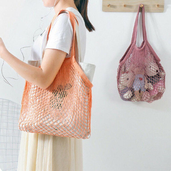 orange mesh market bag