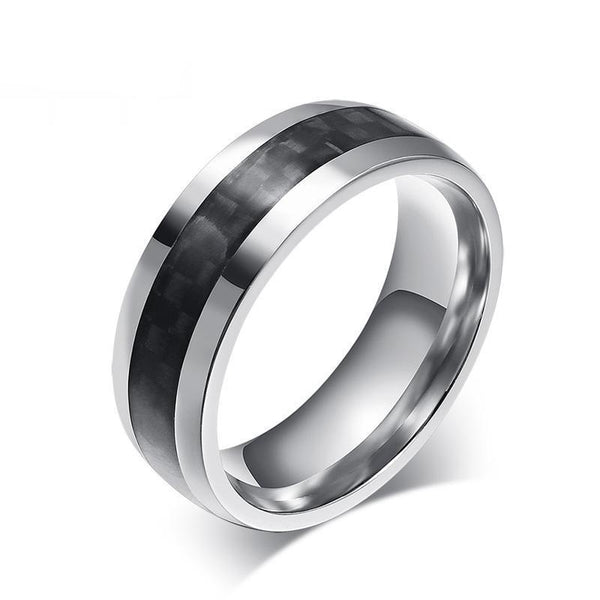 Men's Carbon Flare Ring